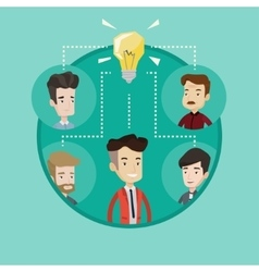 Business people discussing ideas vector