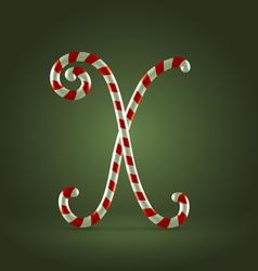 Candy cane abc X vector