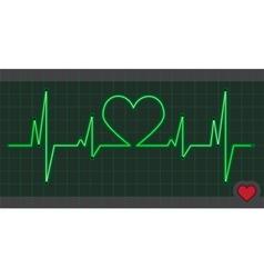 Cardiogram heart love vector
