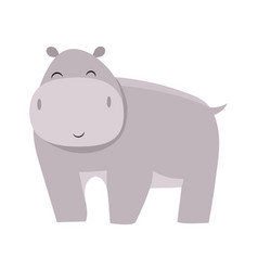 cartoon hippo a vector image