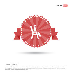 Chair icon - red ribbon banner vector