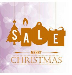 Chrismtas sale banner with pattern background vector