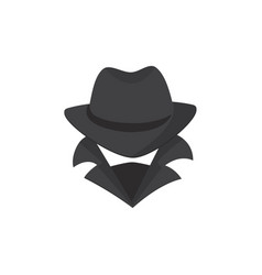 computer hacker an unknown man in a hat and mask vector image