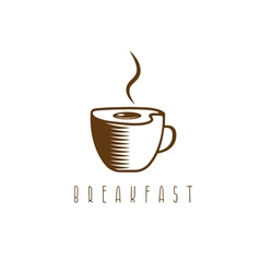 Concept breakfast template with fried eggs and vector image