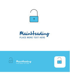 Creative unlock logo design flat color logo place vector