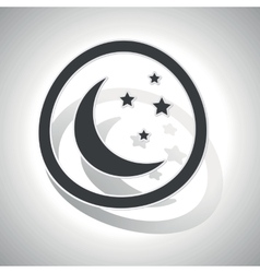 Curved night sign icon vector