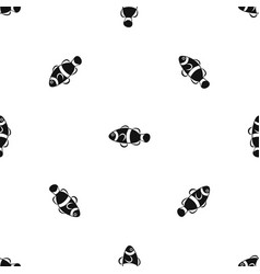 cute clown fish pattern seamless black vector image