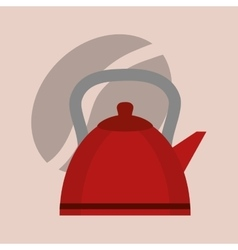 Delicious coffee kettle vector