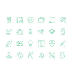 design tools icon artwork web typography vector image