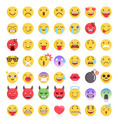 emoji emoticons symbols icons set vector image vector image