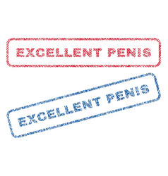 excellent penis textile stamps vector image