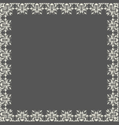 Fine floral square frame decorative vector