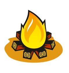 fire on a white background vector image