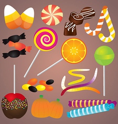 Halloween Candy Set vector