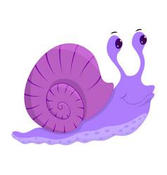 hand drawn snail natural colors vector image