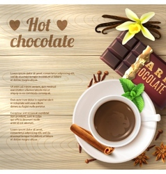 Hot Chocolate Background vector
