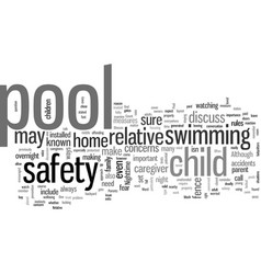 How to discuss pool safety with a relative vector