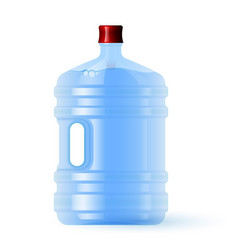 large plastic bottle with water volume five vector image
