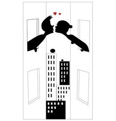 Love silhouette vector