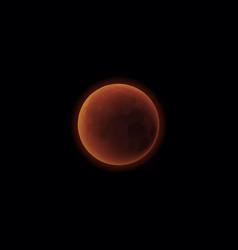 Mars planet realistic solar vector