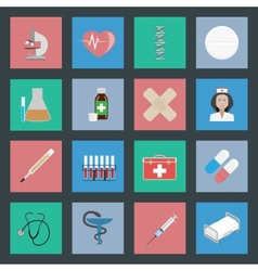 Medicine flat icons set vector image