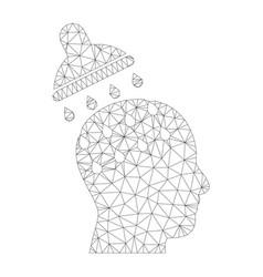 mesh brain washing icon vector image