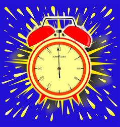 Midnight alarm clock vector