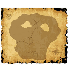 Old pirate treasure map vector