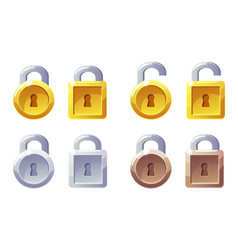 Padlock icon with square and round shape vector