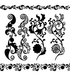 pattern black seamless banner vector image