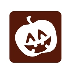 Pumpkin halloween card icon vector