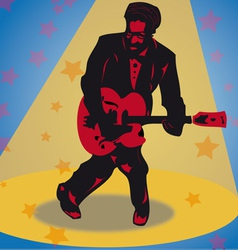 Rock guitarist vector