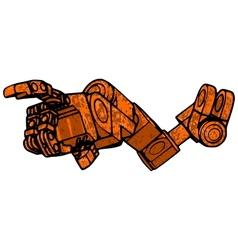 Rusty hand vector image
