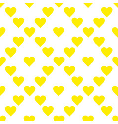 Seamless pattern with yellow hearts hand drawn vector