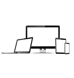 set blank screens digital devices vector image