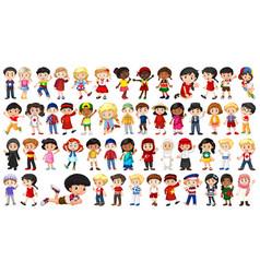 Set multicultural kids character vector