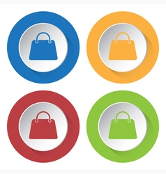set of four icons - handbag vector image