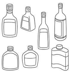 Set of liqueur vector