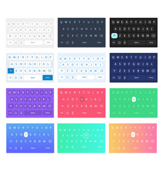 set qwerty mobile keyboards keys vector image