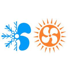 simple air conditioner symbol icon logo vector image
