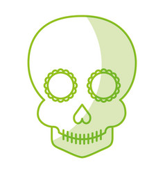 Skull artistic tattoo isolated icon vector