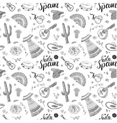 Spain seamless pattern doodle elements hand drawn vector