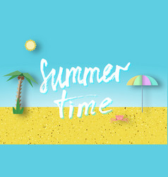 Summer time paper trendy concept vector