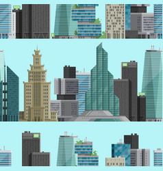 urban city outdoor landscape skyscraper house vector image