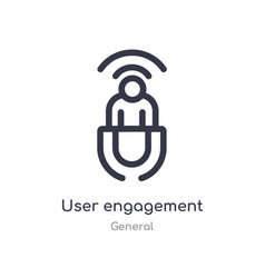 User engagement outline icon isolated line from vector