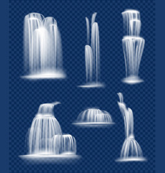 waterfall flowing fresh clean and transparent vector image