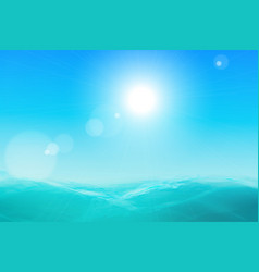 abstract sea and sky background vector image vector image