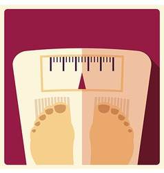Bathroom weight scales flat design vector image vector image