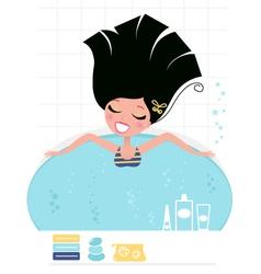 beauty bath vector image