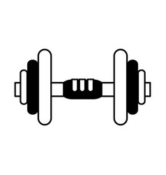 dumbbell weightlifitng icon image vector image